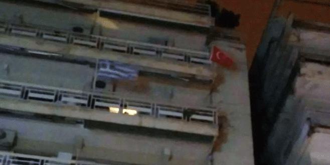 Komşuda Türk bayrağı krizi