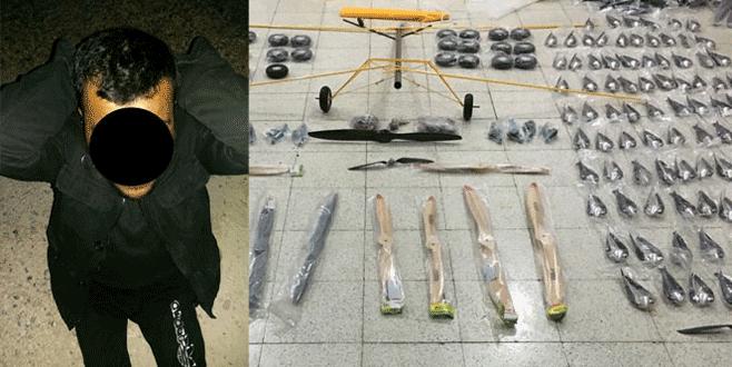 Sınırda yakalanan IŞİD'linin çuvalından uçak çıktı