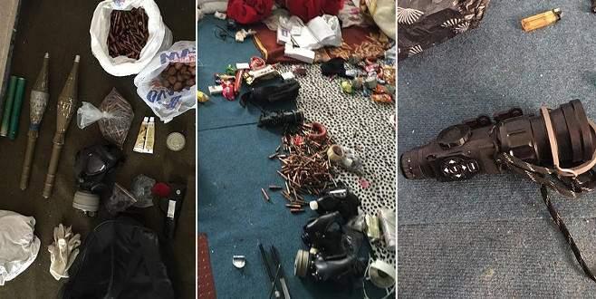 Yüksekova'da gece görüş dürbünleri ve lav silahı ele geçirildi