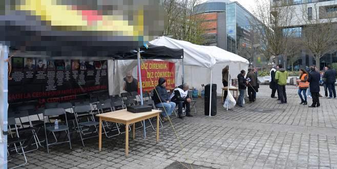 Belçika'da PKK'nın çadırına yeniden izin verildi