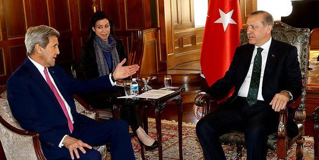 Cumhurbaşkanı Erdoğan, John Kerry ile görüştü