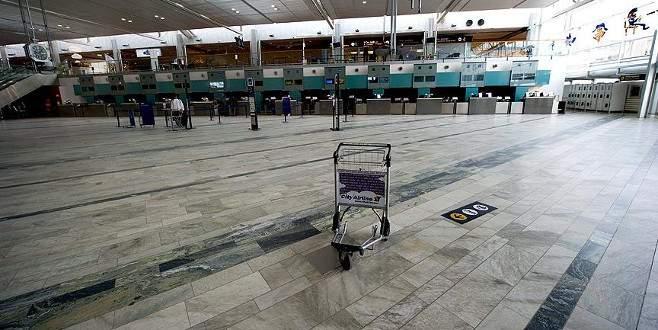 Havalimanında şüpheli paket alarmı