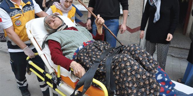 Bursa'da alevler arasında kalan kadın son anda kurtarıldı