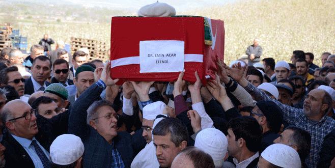 Dr. Emin Acar'ın cenazesi Bursa'da toprağa verildi
