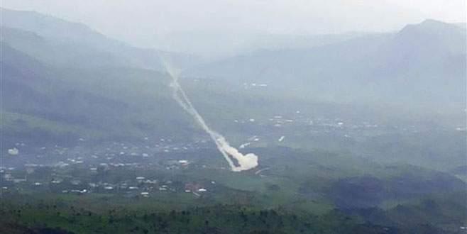 PKK sığınakları top atışına tutuldu