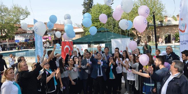 Balonlar kanser için uçuruldu