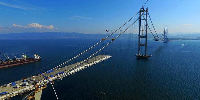'İzmit Körfez Geçişi Köprüsü 2 ay içinde tamamlanacak'