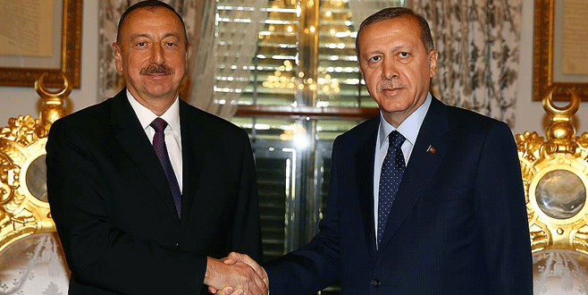 Erdoğan ile Aliyev bir araya geldi