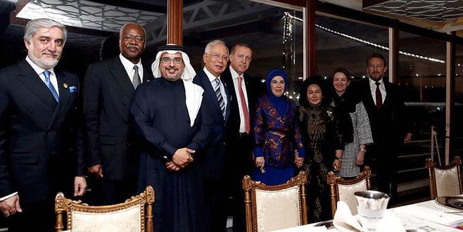 Cumhurbaşkanı Erdoğan liderleri Savarona'da ağırladı