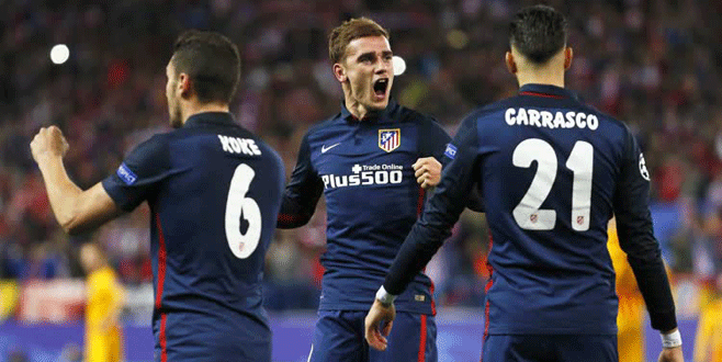 Atletico Madrid yarı finale yükseldi