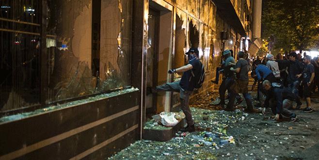 Makedonya Cumhurbaşkanı'nın ofisi yağmalandı