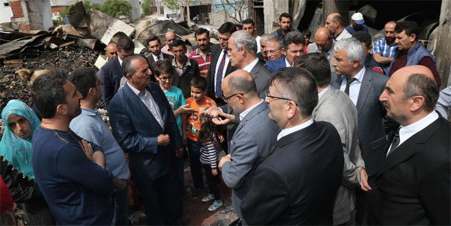 Bursa'daki yangının yaralarını Büyükşehir saracak