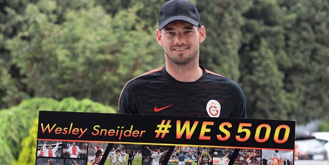 Sneijder'in 500. maç heyecanı