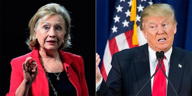 New York'taki ön seçimlerde zafer Clinton ve Trump'ın