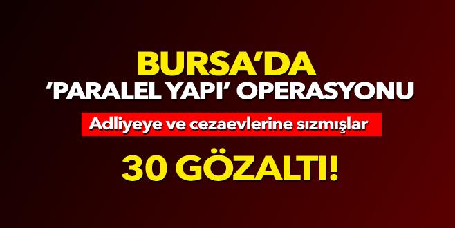 Bursa Polisi'nden 'paralel yapı' operasyonu: 30 gözaltı