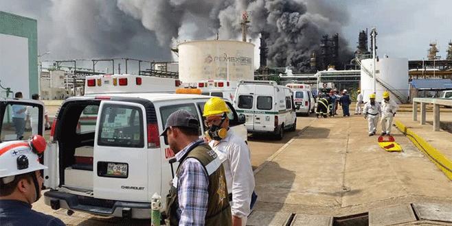 Petrokimya tesisinde patlama