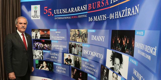 Bursa'da festival zamanı