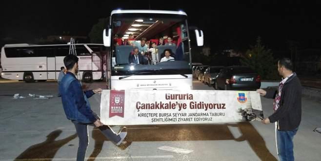 Çanakkale'ye 125 otobüsle Bursa çıkarması