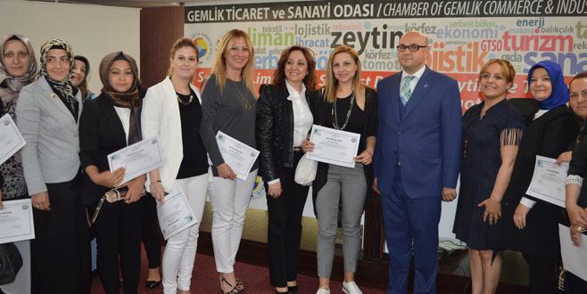Genç girişimciler sertifikalarını aldı