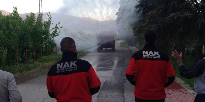 NAK ekibinden orman yangını eğitimi