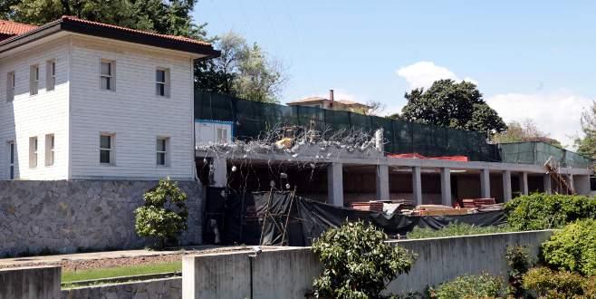 Rıza Sarraf'ın villasında yıkım