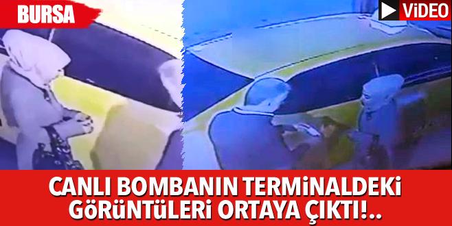 Canlı bombanın terminaldeki görüntüleri ortaya çıktı