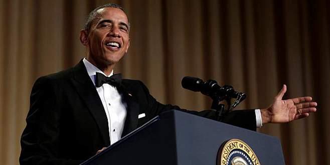Obama konuklarını 'kahkahaya boğdu'