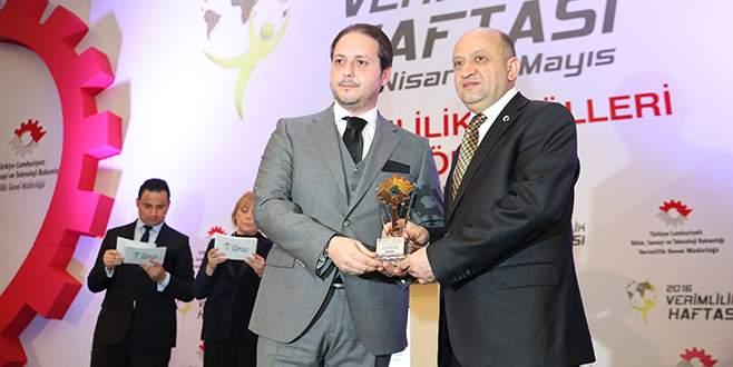 Bursa'ya iki 'Verimlilik ödülü'