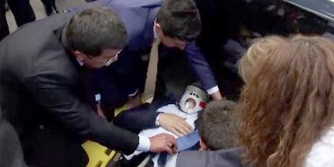 Eski bakanın korumasına Meclis'te otomobil çarptı
