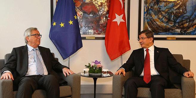 Davutoğlu ile Juncker 'vize'yi görüştü