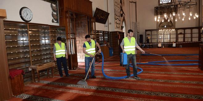Osmangazi'de camiler temizleniyor