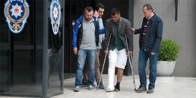 Bursa'da büyük vurgun yapacaktı, ayağını kırdı
