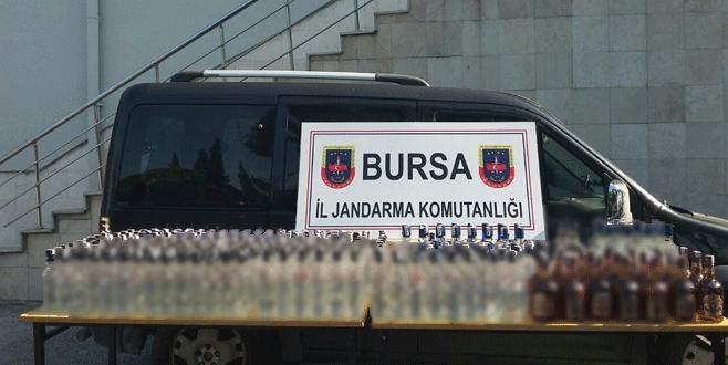 Bursa'da kaçak içki operasyonu! Tam 335 şişe…