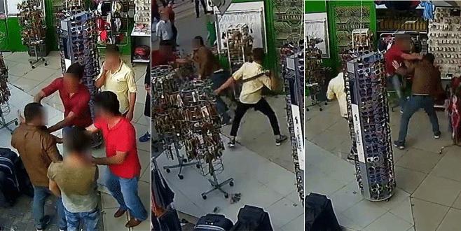 Bursa'da bıçaklı kavga kamerada!