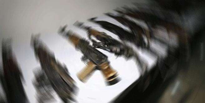 Çuval içinde çok sayıda silah bulundu