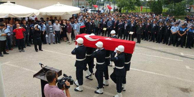 Şehit polise Bursa'da duygusal veda