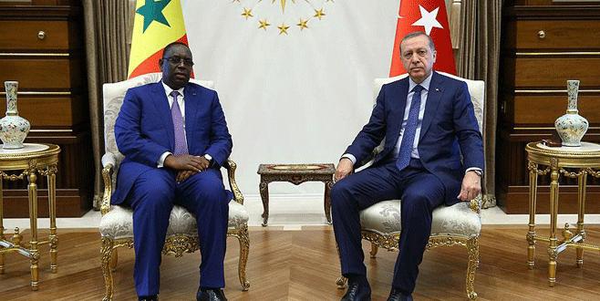 Erdoğan, Senegal Cumhurbaşkanı Sall ile görüştü