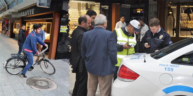 Bursa'da çarşıya giren bisikletlilere ceza yağdı