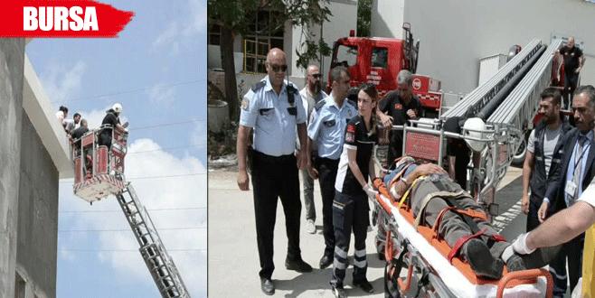 Cami inşaatında çalışan işçi ölümden döndü