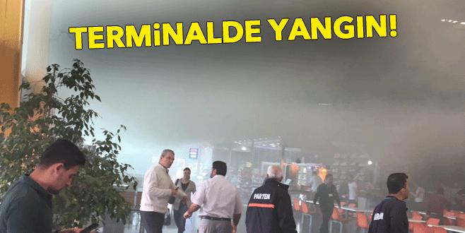 Bursa Şehirlerarası Otobüs Terminali'nde yangın