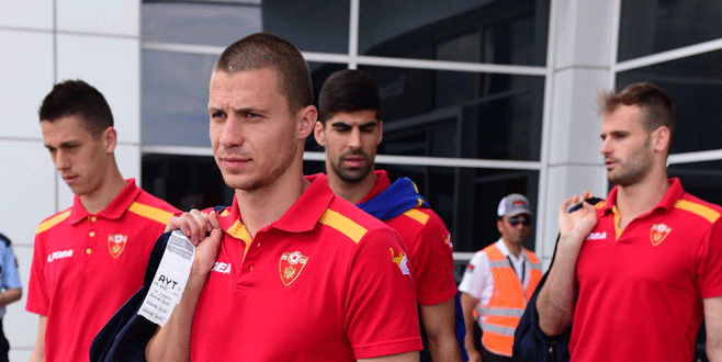Karadağ milli takımı Antalya'ya geldi