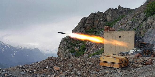 Gaziantep'e düşen roketlere karşılık verildi