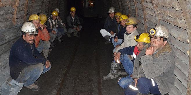 Zonguldak'ta 51 madenci eyleme son verdi