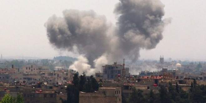 Suriye helikopteri sınırda düştü!