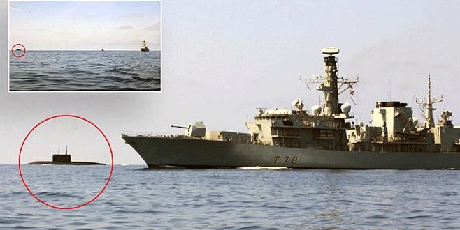 Rus denizaltısına İngiliz 'gözaltısı'