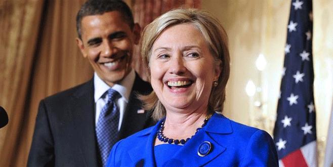 Hillary Clinton'a Obama desteği