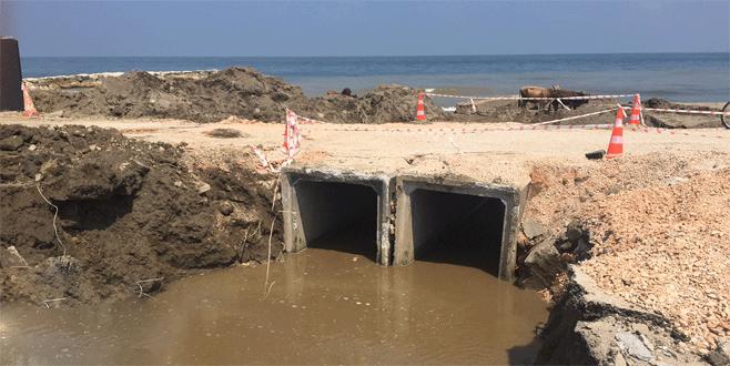 Karacabey sahilinde sel baskınına önlem