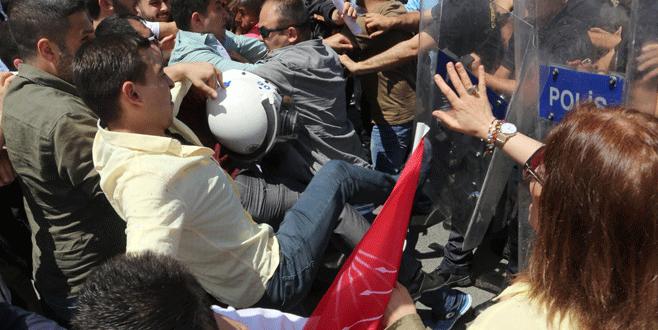 Kılıçdaroğlu'na destek gösterisinde arbede