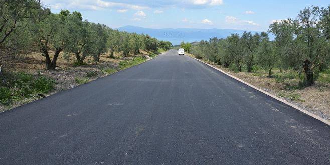 Eski Bursa yolunda asfaltlama tamam