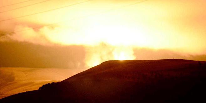 Terör örgütü PKK doğalgaz hattına saldırı düzenledi